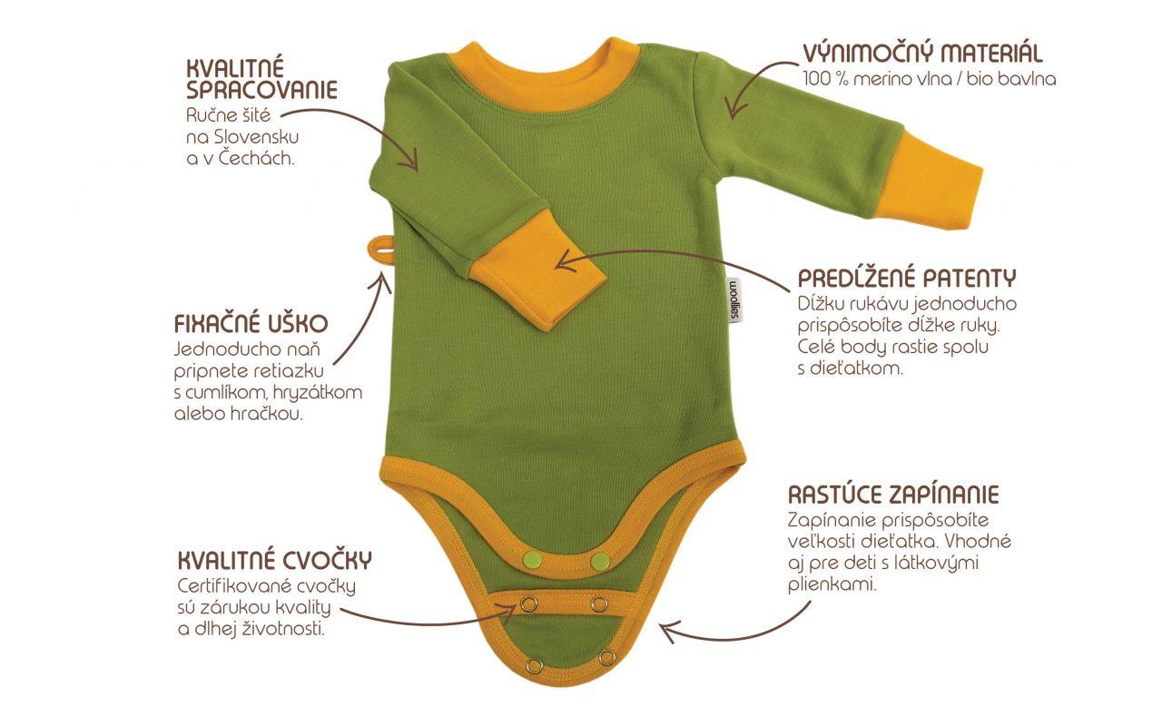 Woolies detské body